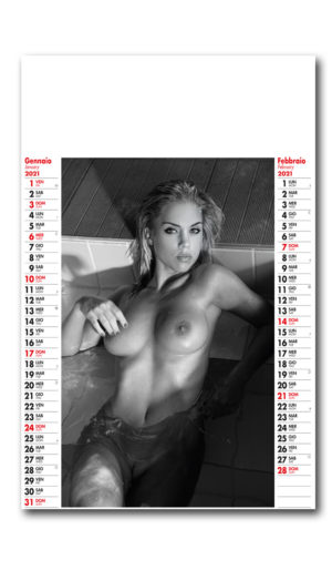 calendario nudo hot black white 231