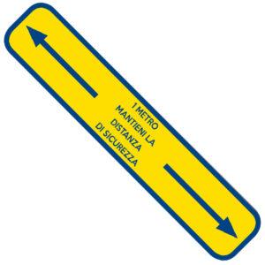 Safety adesivo per pavimenti giallo