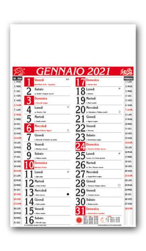 calendario Olandese classico rosso