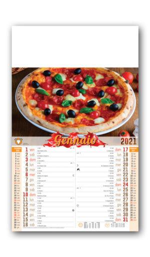 Calendario olandese pizza