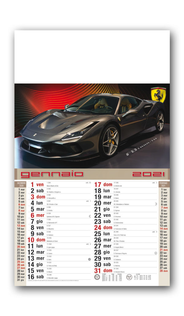 calendario Dreams cars