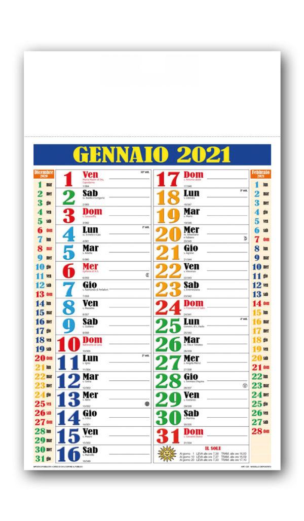 Calendario olandese multicolor 116