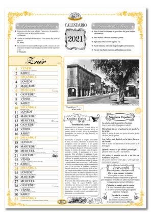 calendario dialetto 011 interno Castelfranco E.