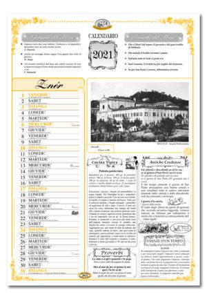 calendario dialetto 041 interno Pavullo