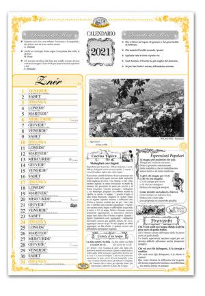 calendario dialetto 082 interno Appennino Modenese