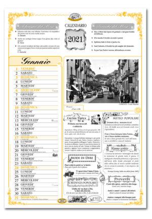 calendario dialetto 102 interno Cosenza